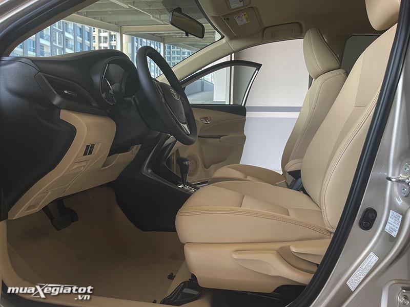 ghế trước xe toyota vios 2021 bản 1.5G - muaXegiatot.vn
